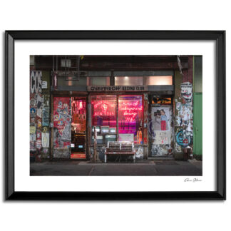 Print of the Boxing Club on Bleecker Street just off the Bowery.